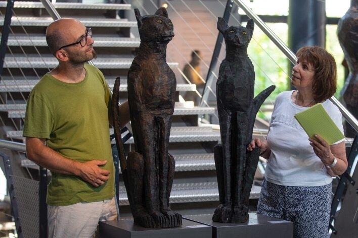 Mario Schubert und Carmen Naundorf blieben am Samstag allein mit den Tempelkatzen.
