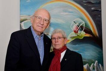 Bürgerpreisträger der Stadt Freiberg 2008: Ruth Kretzer-Braun und Geschäftsführer Johannes Kretzer.