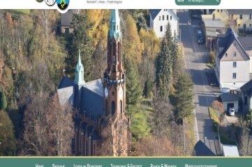 So sieht der erste Entwurf für die überarbeitete Homepage der Gemeinde aus.