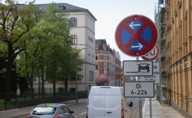 Der Sonnenberg ist am 1. Mai - wie hier an der Fürstenstraße - zur Halteverbotszone geworden.