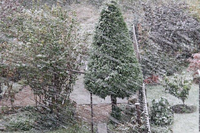 Auch in Schönheide gibt der Winter seit heute Morgen ein erstes Gastspiel.