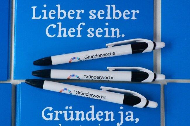 Werbematerial für eine Gründerwoche.