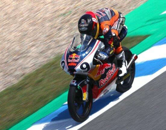 Zu wenig Windschatten: Freddie Heinrich verpasste es in Jerez, etwas für sein Punktekonto zu tun.