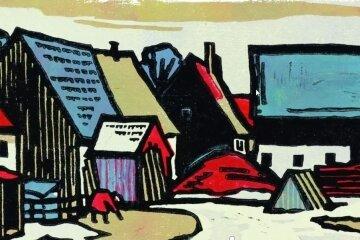 """""""Vorfrühling in Satzung"""" nannte Maler Rudolf Manuwald seinen Holzschnitt. Das Werk ist auf der Startseite der Homepage platziert."""