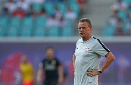 Trainer Ralf Rangnick siegt mit Leipzig in Rumänien