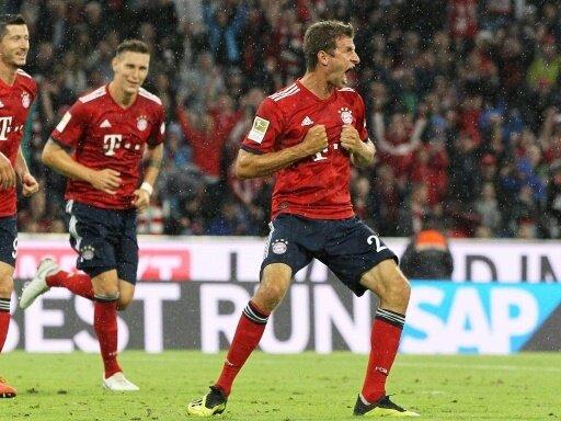 Müller bringt die Bayern in der 23. Minute in Führung