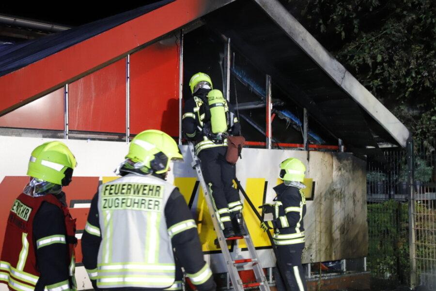 Containerbrand an der Zschopauer Straße - Zeugen gesucht