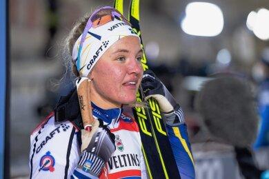 Schnelle Schwedin: Lynn Svahn, letzten Januar Siegerin in Dresden, sprintete in Ruka zum Sieg.