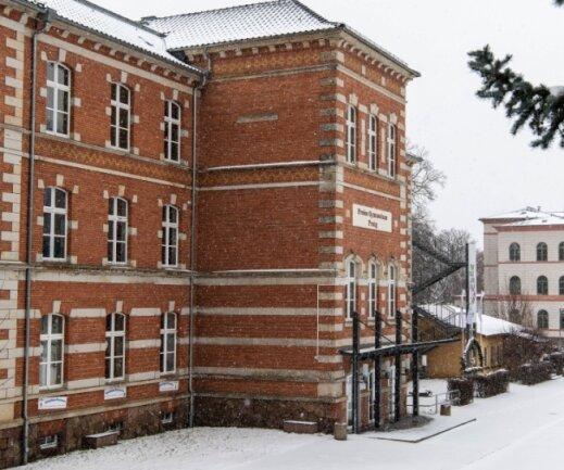 Das Freie Gymnasium Penig besteht aus zwei Gebäudeteilen, einem weißen, das 1867 errichtet wurde, und einem roten aus dem Jahr 1891. Zwischen den Häusern floss einst ein Bach in die nahe Mulde. Beim Architekturprojekt soll es auch um die baulichen Gegebenheiten der Schule gehen.