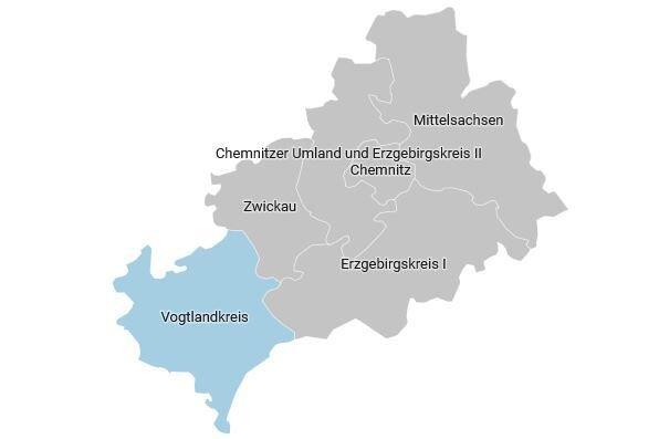 Der Wahlkreis 166 - Vogtlandkreis im Überblick