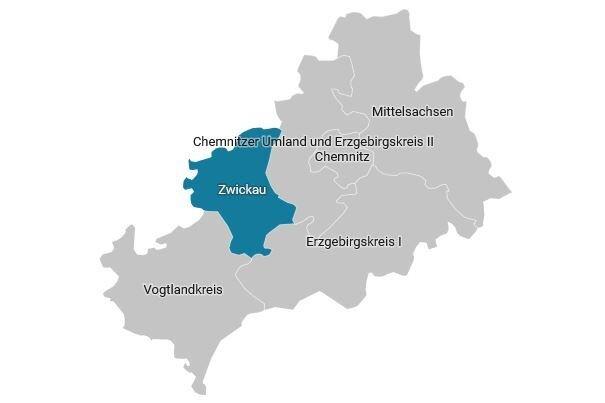 Der Wahlkreis 165 - Zwickau im Überblick