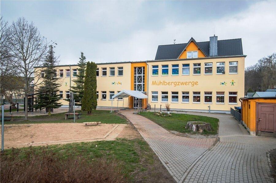 Die  Kita Mühlbergzwerge Burkhardtsdorf. Sie ist eine der drei Einrichtungen in Burkhardtsdorf.