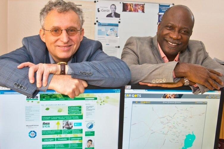 Reinhardt Nindel, Aufsichtsratsvorsitzender der Chemnitzer Ibes AG, traf vor wenigen Tagen Godson Samuels von der nigerianischen Partnerfirma Netsach. Gemeinsam entwickelten sie ein Projekt zur computergestützten Überwachung von Gefahrguttransporten wie Diesel- oder Benzinlieferungen in dem afrikanischen Land.