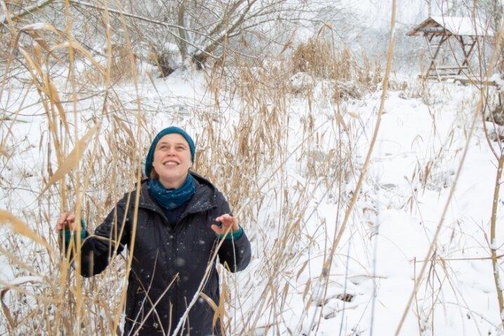 Tief verschneit präsentierte sich am Dienstag das Gelände des Plauener Pfaffengutes. Zu den Vorhaben von Pfaffengut-Chefin Beate Groh und ihres Teams gehört in diesem Jahr die Sanierung des Teiches.