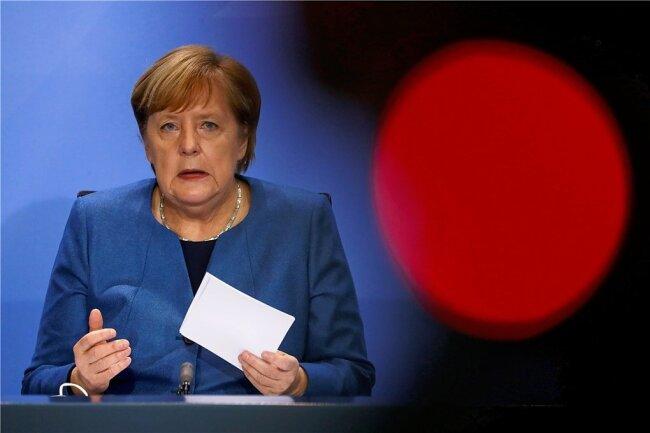 Bundeskanzlerin Angela Merkel (CDU) stellte nach einer Videokonferenz mit den Ministerpräsidenten der Länder die verabredeten neuen Maßnahmen gegen die Coronapandemie vor.