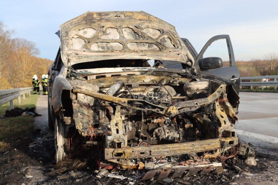 A4: Auto fängt während Fahrt Feuer