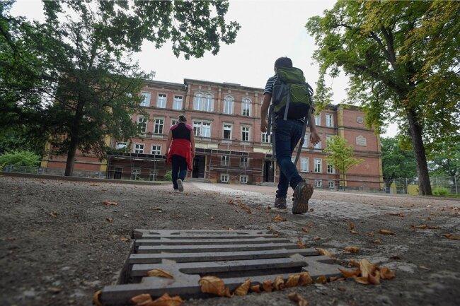Die Förderschule Altchemnitz wird bis 2025 saniert und um einen neuen Gebäudeteil erweitert.