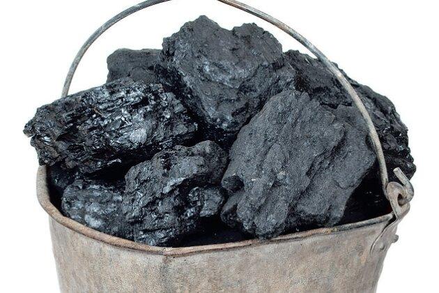 Ein Eimer voll Kohle