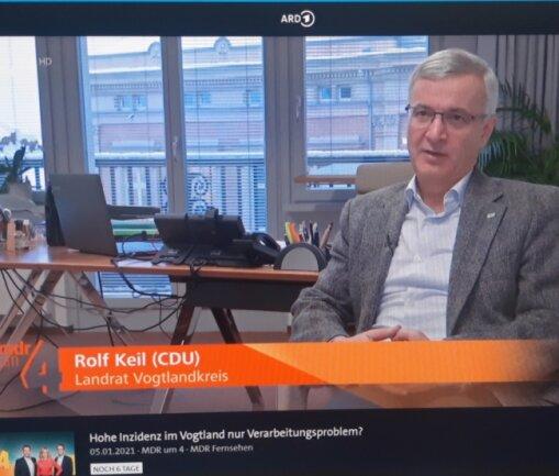 In einem MDR-Interview machte Landrat Keil am Dienstag widersprüchliche Aussagen. Der Beitrag ist noch mehrere Tage in der ARD-Mediathek zu sehen.