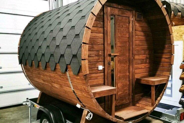 Eine solche mobile Fass-Sauna für das Peniger Freibad will der Förderverein über eine Crowdfunding-Aktion finanzieren.