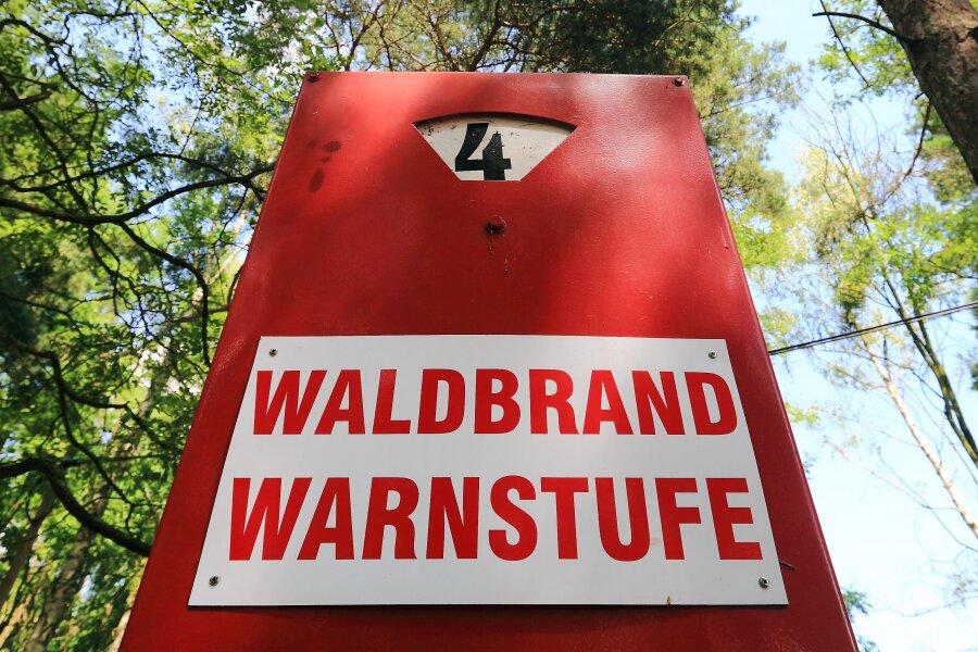 Im Landkreis Mittelsachsen herrscht mittlere Waldbrandgefahr