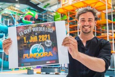 Fundora-Chef Robert Friedrich freut sich, dass es am 1. Juli in der Indoor-Erlebniswelt wieder losgeht.
