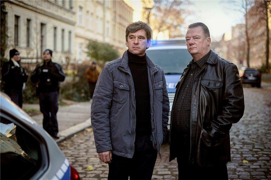 Neue Kommissare in Halle: Michael Lehmann (Peter Schneider, links) und Henry Koitzsch (Peter Kurth).