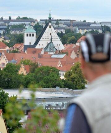 Blick von der Alten Elisabeth über Freiberg.