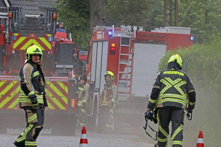 Wohnungsbrand in Gersdorf
