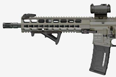 Das Model MK 556 vom Thüringer Waffenhersteller C.G. Haenel. Heckler und Koch wirft der Firma vor, abgekupfert zu haben.