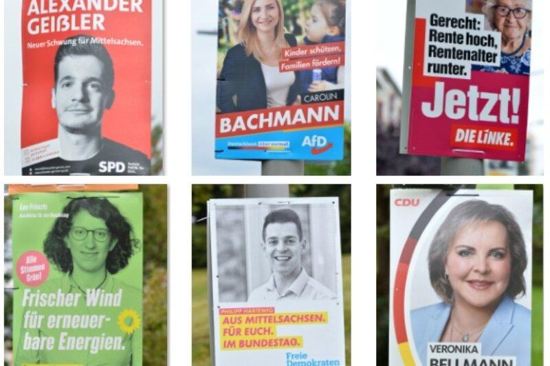 Plakate vor der Bundestagswahl im Vergleich: Wenig Überraschendes