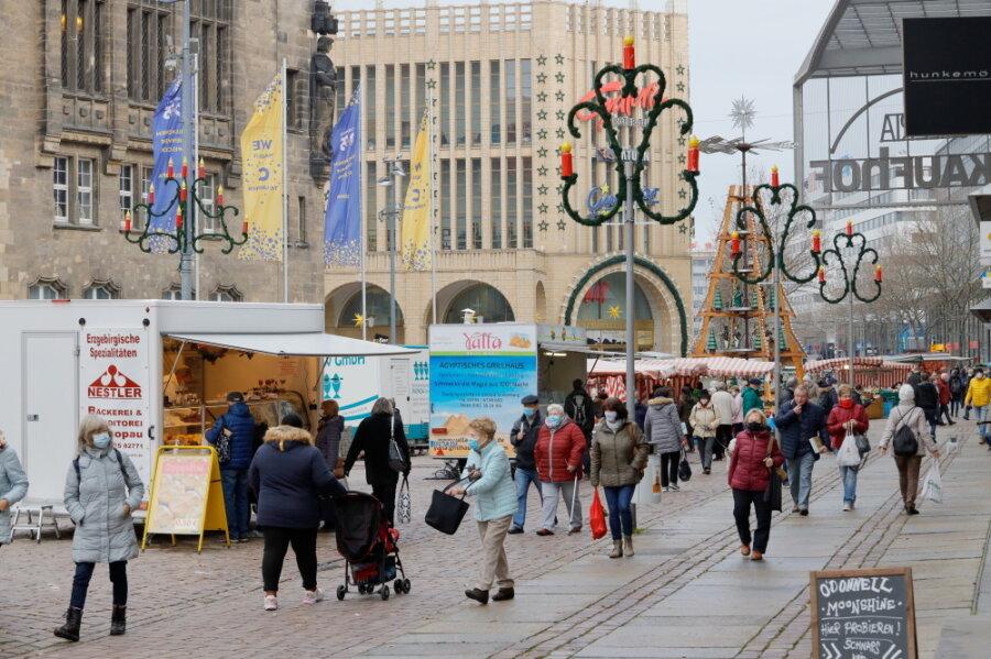 Corona-Lage in Chemnitz: Imbiss in der Innenstadt verboten