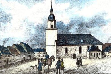So sah Ernstthal in der ersten Hälfte des 19. Jahrhunderts aus. Tenner, der sich um die Umsetzung der Pockenimpfungen verdient gemacht hatte, starb im Jahre 1811.