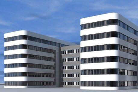 Dieses Gebäude soll direkt an der Anschlussstelle der A72 Stollberg-West gebaut werden.