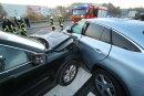 Auf der B101in Höhe der Autobahnabfahrt Siebenlehn sind am Mittwochfrüh zwei Autos zusammengestoßen.