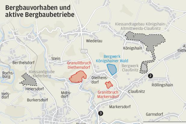 Proteste gegen neue Bergbauprojekte in Mittelsachsen