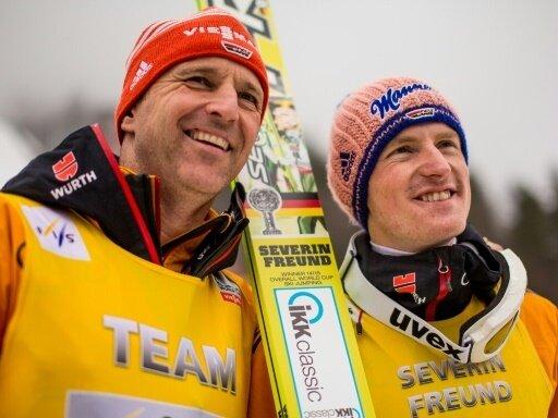 Bundestrainer Werner Schuster (l.) und Severin Freund