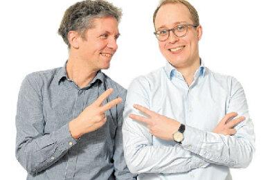 """Die Zwei von """"Unter Zwei"""": Die Dresdner """"Freie Presse""""-Korrespondenten Tino Moritz (links) und Kai Kollenberg."""