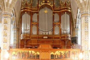 Die Großorgel in der St. Laurentiuskirche.