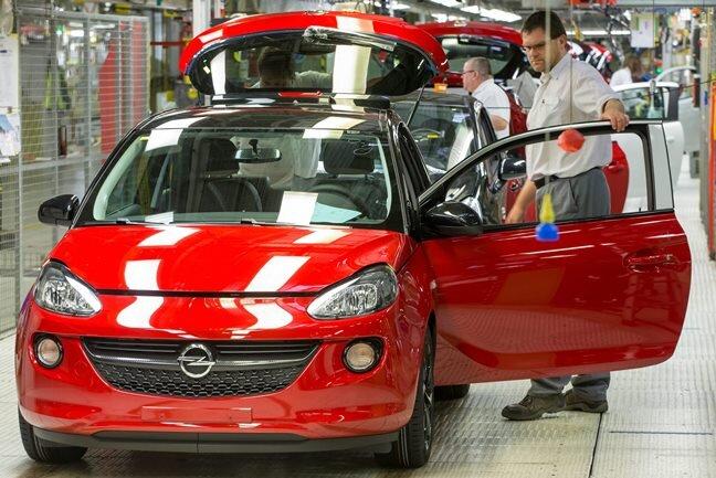 Im vergangenen Jahr lief der Opel Adam 60.000-mal im Werk Eisenach vom Band.