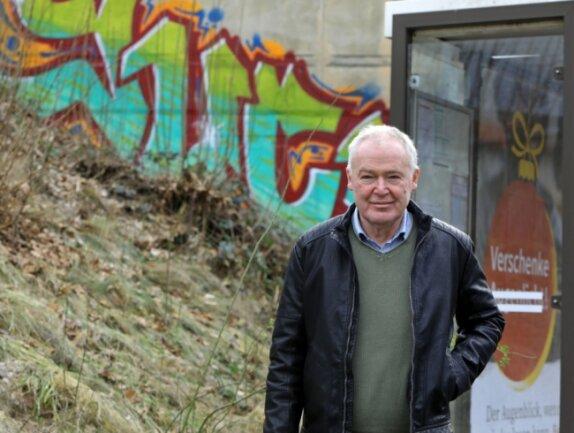 Streetworker Christoph Ullmann vom Blauen Kreuz ist auch in der Pandemie in Zwickau unterwegs.