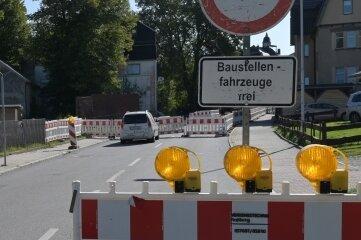 Seit Anfang September ist die Hauptstraße gesperrt.