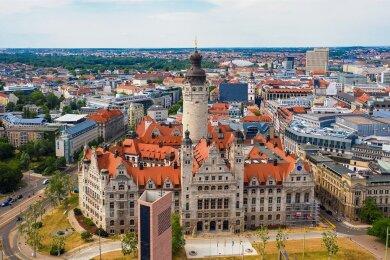 Das Neue Rathaus in Leipzig. Zieht hier bald ein CDU-Oberbürgermeister ein? Am Sonntag haben die Leipziger noch einmal die Wahl.