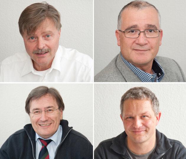 Die Experten: oben:Dr. Lutz Engelmann und Dr. Randolf Pirtkien; unten: Prof. Rudolf Ascherl und Dr. Sven Heide