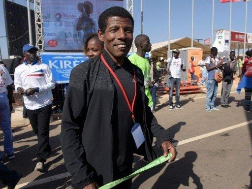 Der zweimalige Olympiasieger Haile Gebrselassie