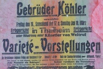 Dieses Plakat aus dem Jahr 1934 wurde erst vor wenigen Tagen auf einem Oberboden gefunden und den Chronisten zur Verfügung gestellt.