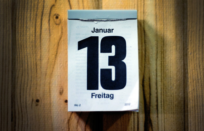 Wenn ein Freitag auf den13. eines Monats fällt, assoziiert der Aberglaube damit einen Tag voller Pleiten, Pech und Pannen. Auch in dieser Woche fällt der Freitag auf den dreizehnten Tag des Monats.