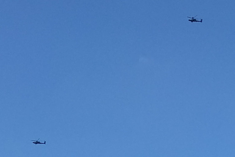 Die US-Hubschrauber wurden unter anderem über Aue gesichtet.