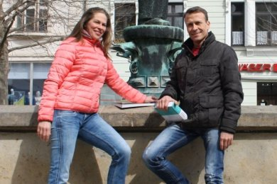 Das Akrobatenpaar Claudia Bergmann und Michael Schwedler geht neue Wege.