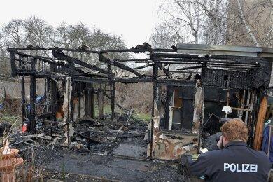 Brandursachenermittler der Polizei waren im Einsatz.